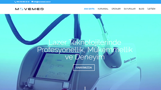 Movemed Company Website Homepage Screenshot link to http://www.movemed.com.tr