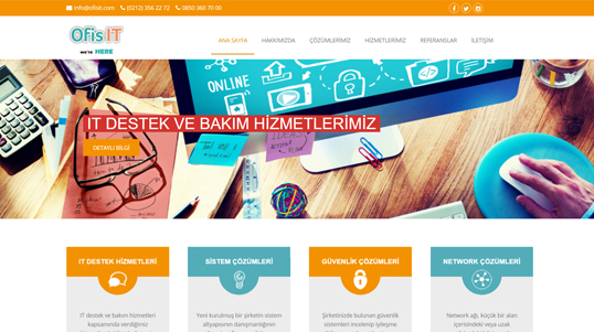 Ofis It Company Website Homepage Screenshot link to http://www.ofisit.com