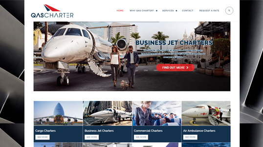 Qas Charter Company Website Homepage Screenshot link to http://www.qascharter.com.tr