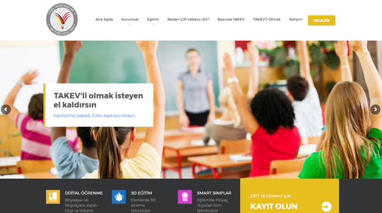Takev Website Homepage Screenshot link to http://takevbodrumluyuz.biz/