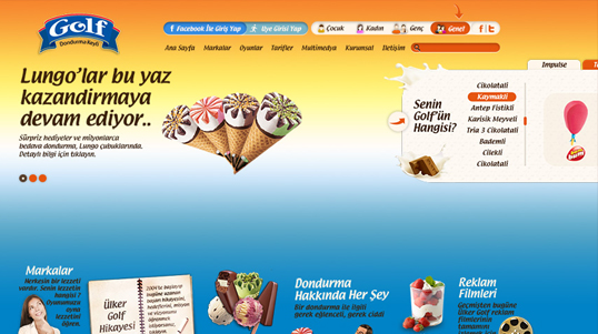 Ulker Golf Homepage Screenshot link to http://www.ulker.com.tr/tr