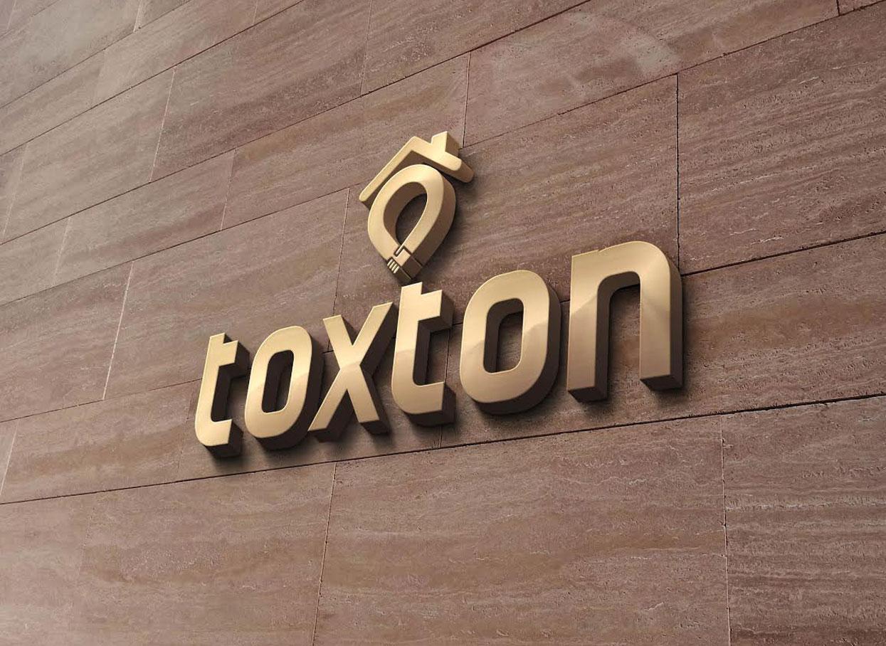 Toxton Real Estate Company Logo image at Artcore Creative Logo Design Company Logo Works Portfolio