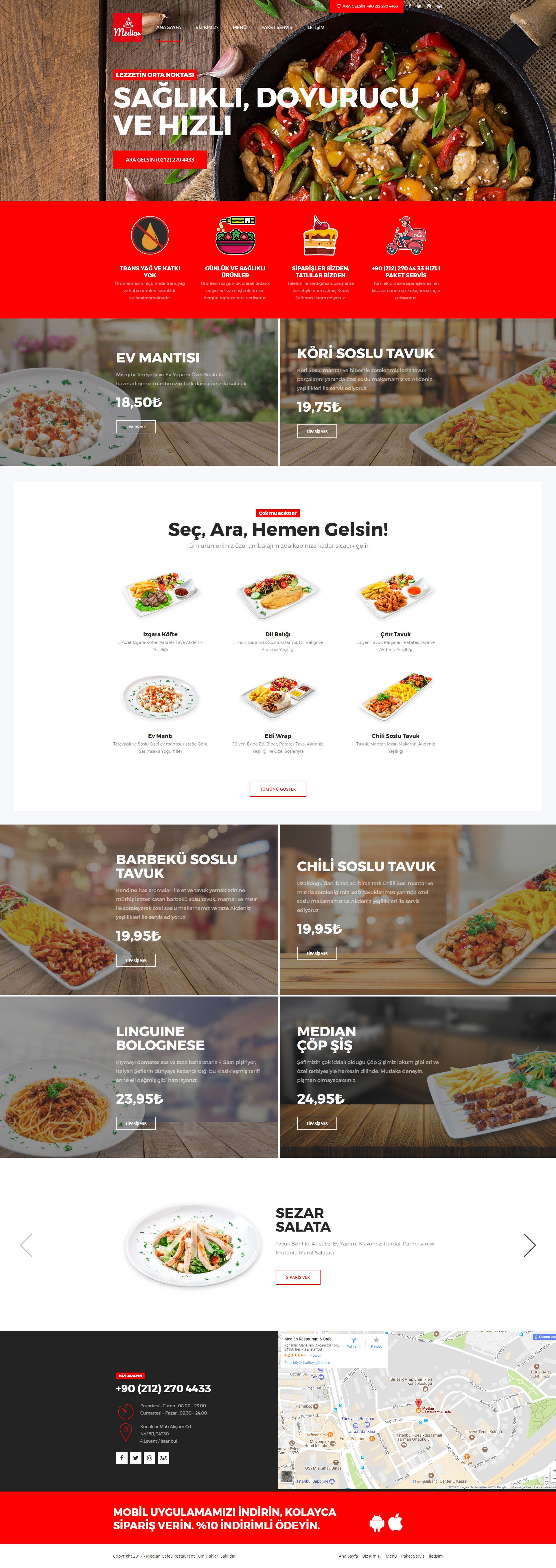 median-restaurant-website