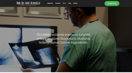 Prof Dr Emre Acaroglu Homepage Screenshot link to http://www.acaroglu.com/